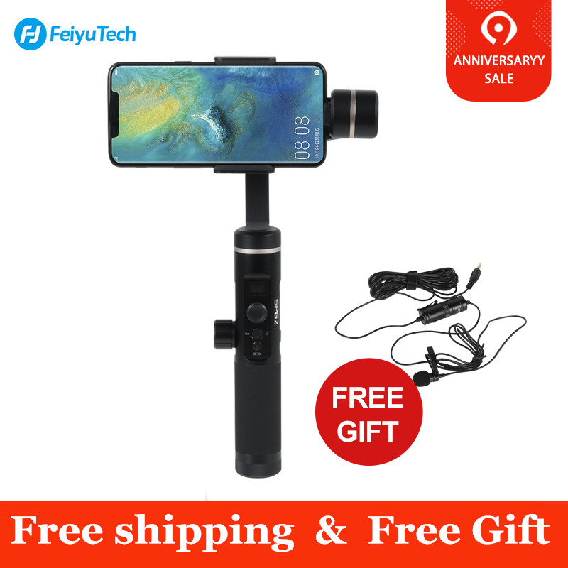 Feiyutech SPG 2 3 Axis Handheld Gimbal Stabilizer for Smartphones Samsung note 8 iphone Xs X