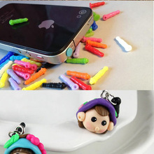 100pcs multicolor Plastic dust plug 3.5mm earphones accessor