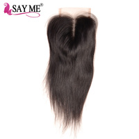 Brazilian Straight Virgin Hair Lace Closure 4x4 Unprocessed 100 Human Hair With Baby Hair Middle Part