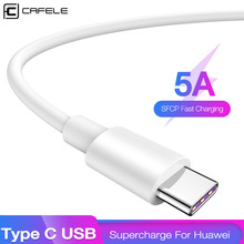 CAFELE 5A Type C USB Cable for Huawei Samsung Xiaomi Phones Support QC 3.0 Fast Charging Data Sync Phone Cables