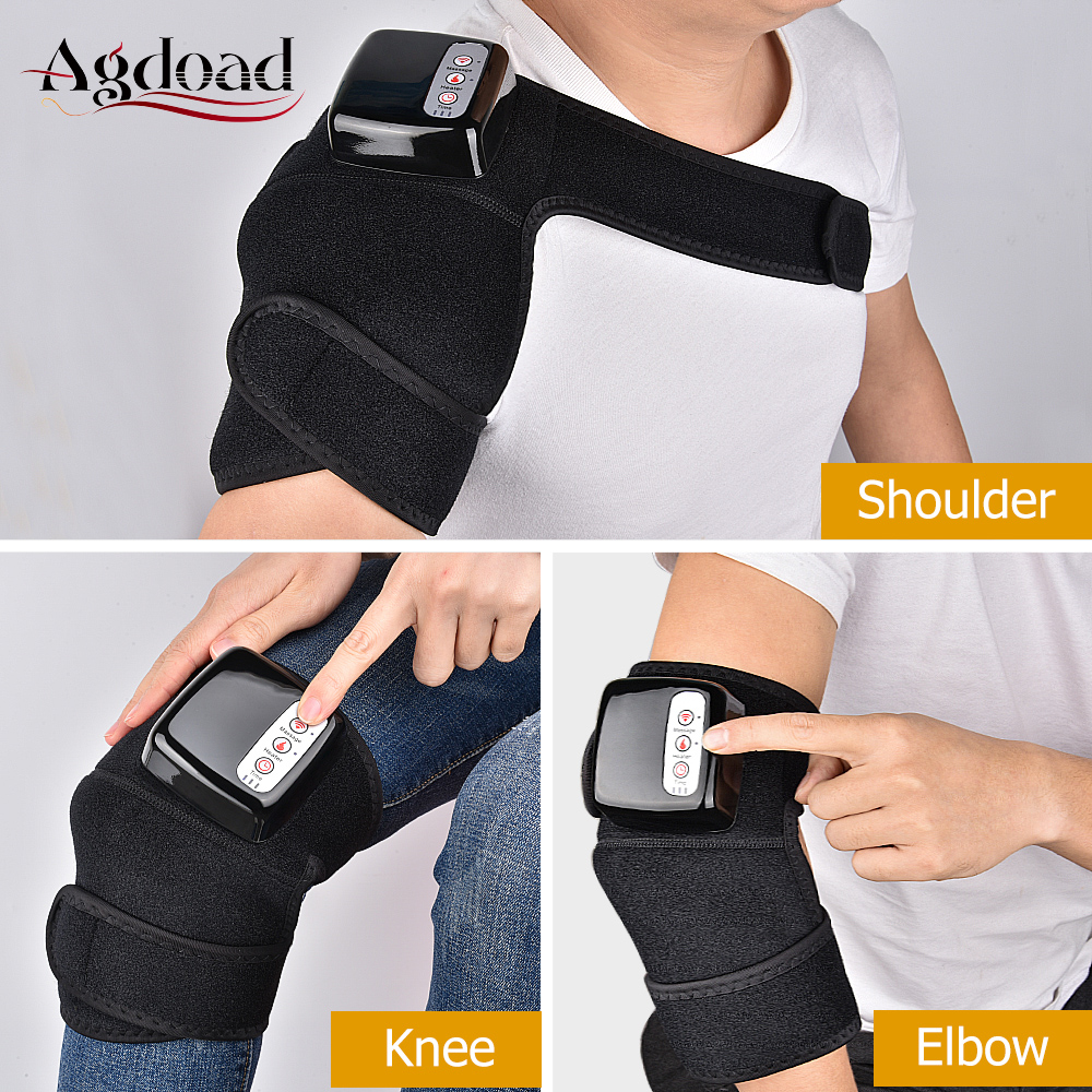 Far Infrared Knee Joint Heat Massage Shoulder Elbow Knee Support Brace Wrap Therapy Vibration Arthritis Rheumatism