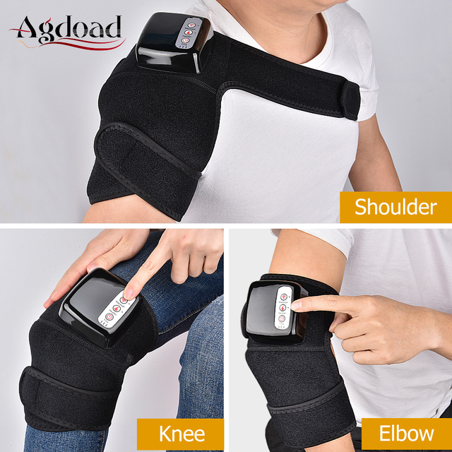 Far Infrared Knee Joint Heating Massage Brace Shoulder Elbow Arthritis Knee Support Brace Vibration Knee Therapy Device