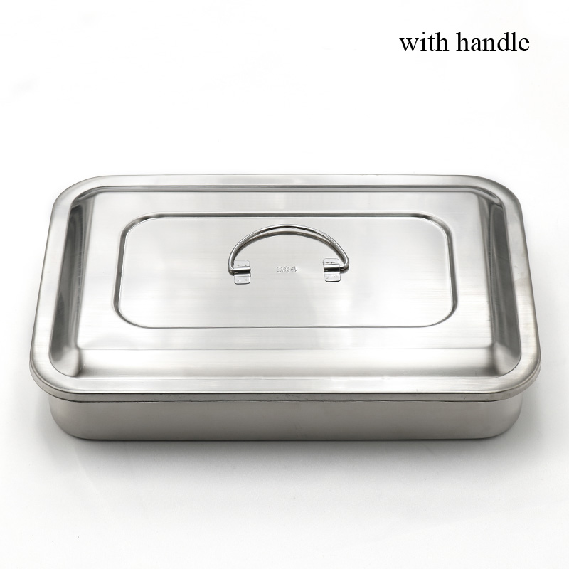 Image 3 - 304 thick medical stainless steel disinfection tray square plate 