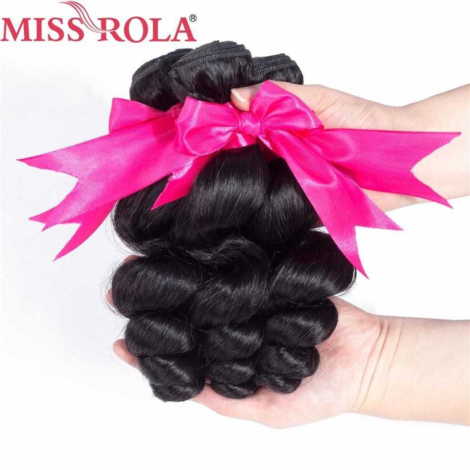 Miss Rola Шаш Peruvian Ұнтақ Толқыны 3 - Адам шашы (қара) - фото 3