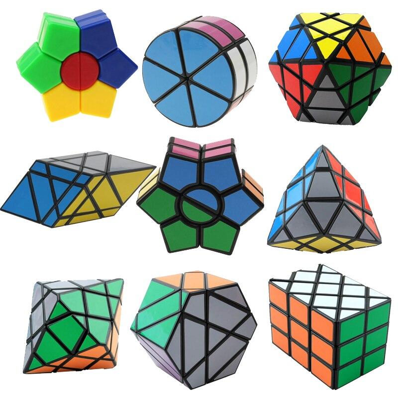 Estranho-Sharp Magic Speed Cube Educacionais Aprendizagem Brinquedos Para Crianças Caçoa o Presente do Enigma Velocidade Desafio Cubo Magico Cubo Brinquedo