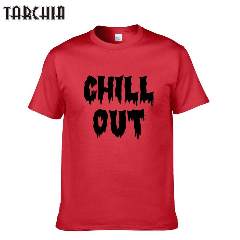 4ead01ce69 Tarchia 2018 nuevos hombres Tops Camisetas Tees verano algodón o  Masajeadores de cuello manga corta Camiseta hombres moda tendencias fitness  camiseta chill ...