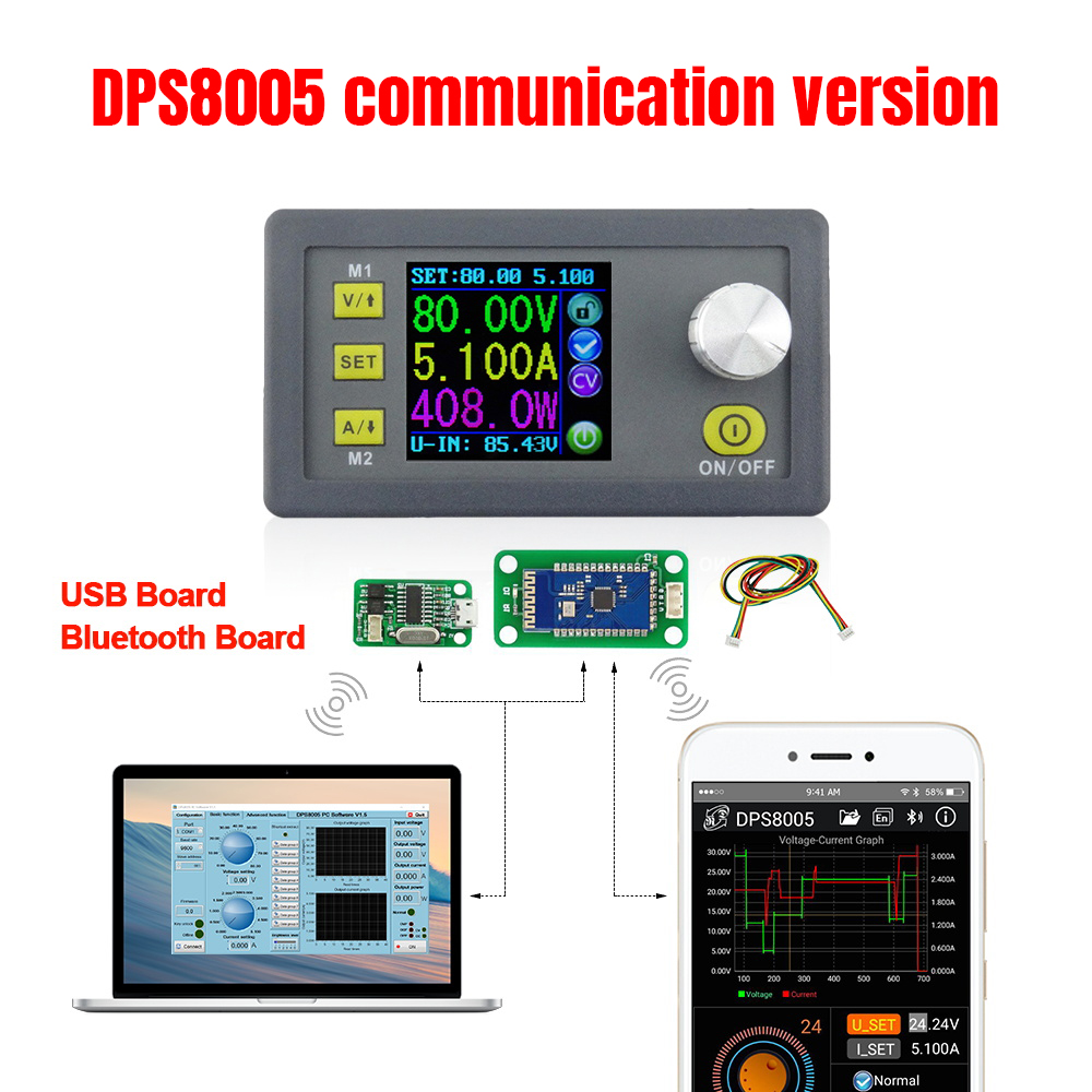 DPS8005 80V 5A constant voltage current programmable power supply module Step-down converter LCD voltmeter  30%offDPS8005 80V 5A constant voltage current programmable power supply module Step-down converter LCD voltmeter  30%off