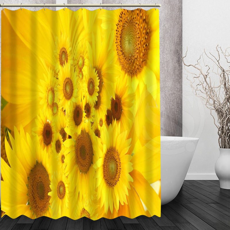 Mondern sunflower Shower Curtain Personalized Custom Bath curtain  Waterproof polyester curtain for family(China) - Online Get Cheap Sunflower Shower Curtain -Aliexpress.com
