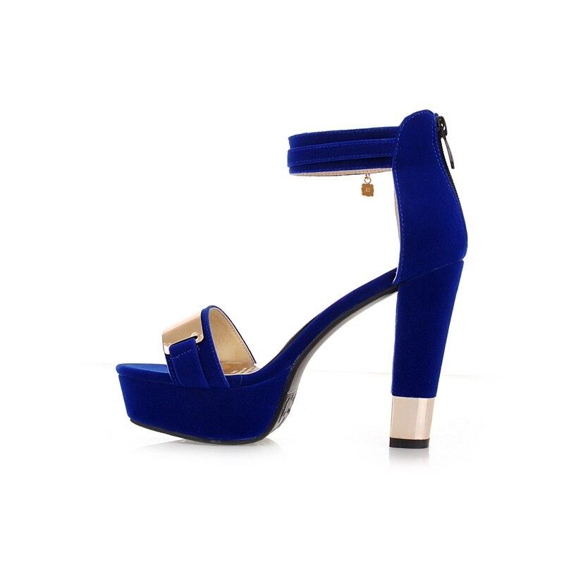 big blu moda signore cinturino estate donna tacchi scarpe size 45 2018 alta qualità nero rosso fibbia Doratasia nero 33 piattaforma wtaUIx
