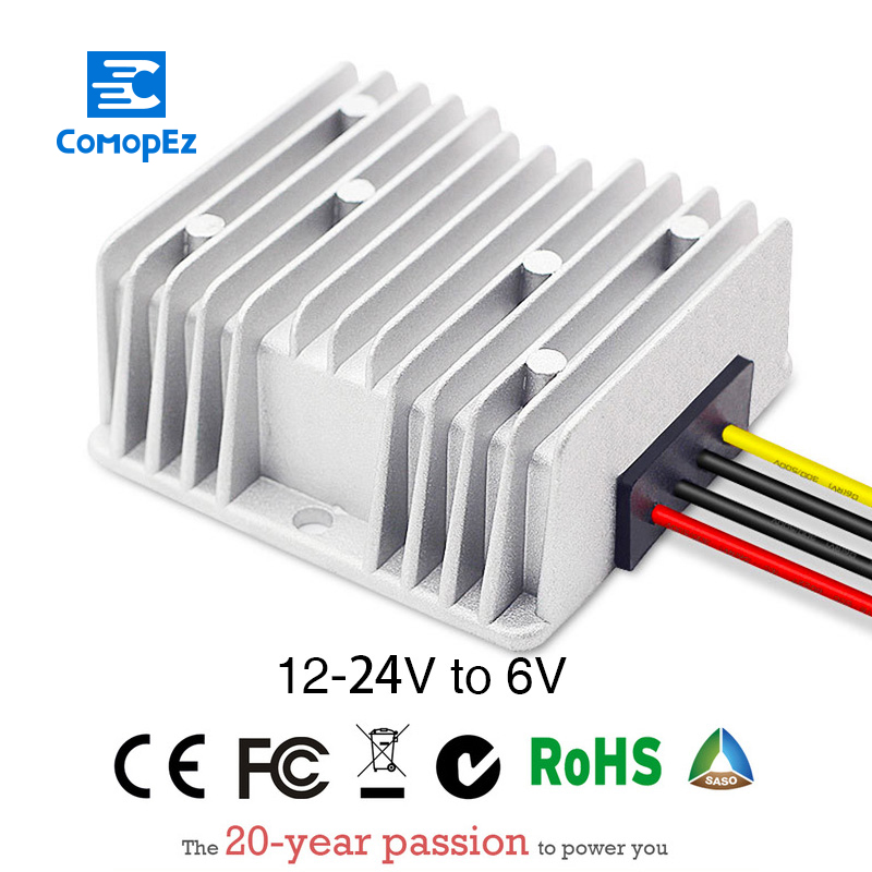 Power Supply Converter DC/DC Step-down 12V/24V to 6V30A Waterproof Control Car Module Low Heat Auto power inverter converterPower Supply Converter DC/DC Step-down 12V/24V to 6V30A Waterproof Control Car Module Low Heat Auto power inverter converter