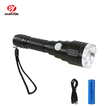 PANYUE USB Rechargable LED Flashlight 1000 Lumens 3 Mode Flashlights LED L2 Torch Flash Light Lamp Lighting With USB Cable стоимость