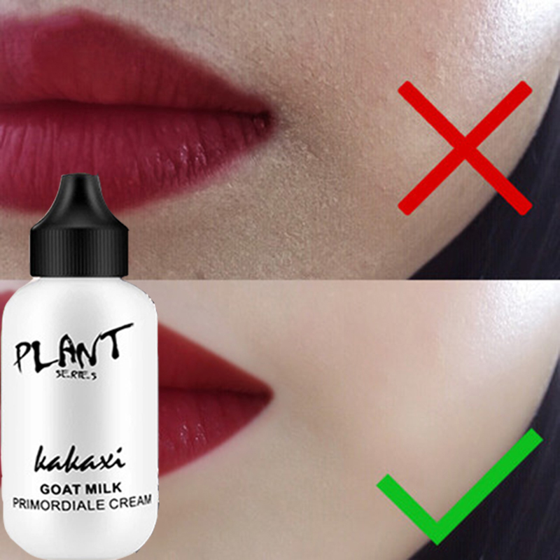 Makeup Primer Goat Milk Cream Whitening Moisturizer Brighten Waterproof Eyes Skin Care Make Up Foundation Base Cosmetics