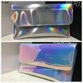 Designer Hologram Anti wrinkle Leatherette Handbag Clutch Wallet Multi color Free shipping