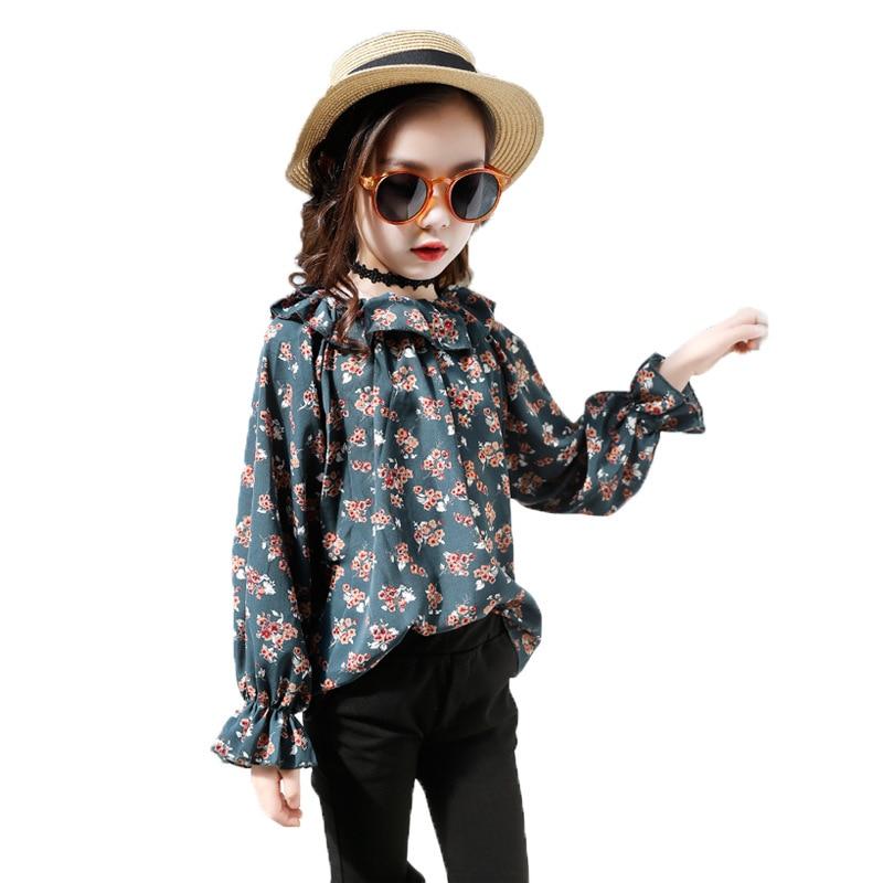 где купить Meisjes Kleding Kids Girls Clothing Set 2018 Spring Floral Shirt + Pant 2pcs Children Clothes For 3 4 5 6 7 8 9 10 11 12 Years по лучшей цене