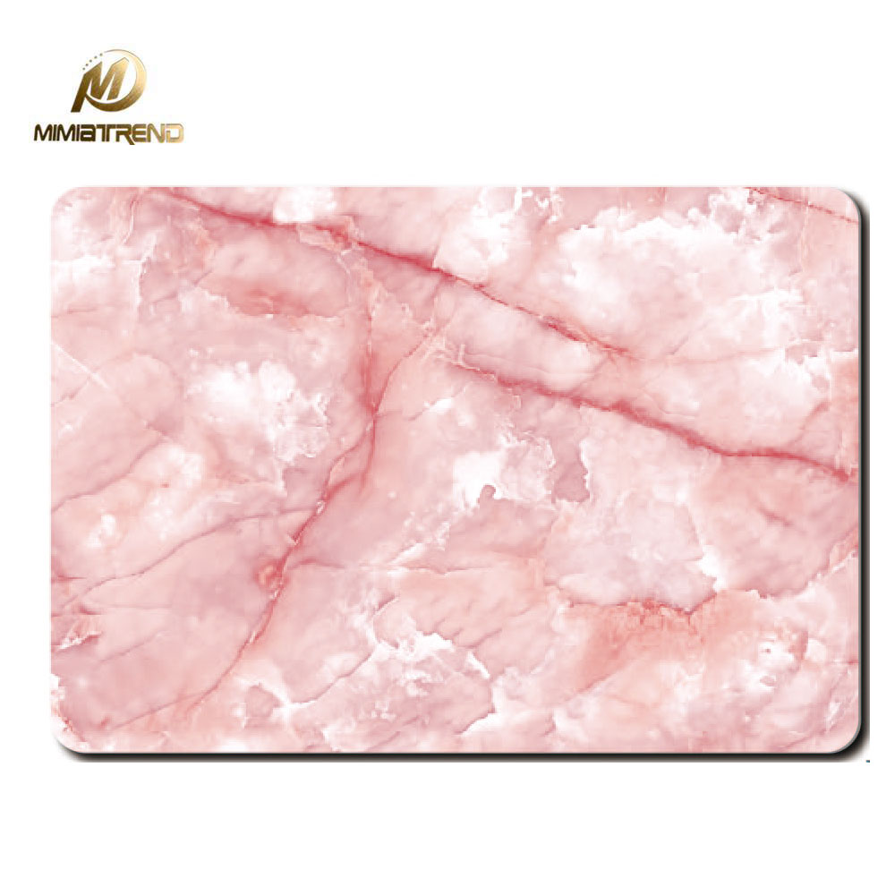 Mimiatrend Pink Marble Grain skins for laptops MacBook Air Pro Retina 11 12 13 15 Inch Full Cover Protective Sticker Gift