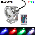 16 Color 10W RGB 12V Led Underwater Swimming Pool  pond Light Fountain spot  Lamp with 24key  Remote Control free shipping