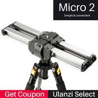Aggiornato Micro 2 Professionale Videocamera Slider 33 cm Viaggio Track Slider Dolly Binario Macro per DSLR/ARRI Mini/ROSSO/BMCC