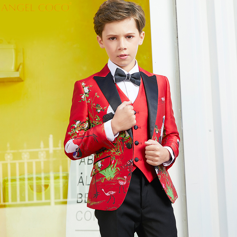 Children Suit Set Blazer Boys Suits For Weddings New Year's Suit For A Boy Costume Enfant Garcon Mariage Thanksgiving Outfits new winter thicker plus kids suits blazers for baby boy plaid blazer snowsuit children party suit costume garcon warm outfits