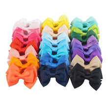 цена на 20Pcs/lot 20 Color High quality Lovely Girls Bow Tie Hair Clip Solid Grosgrain Ribbon Bow-knot Hairpins Hairgrips Accessories529