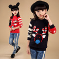 Christmas knitted 2015 for girls sweaters kids winter sweater patterns children size 8 9 10 years old 150 cm European pullovers