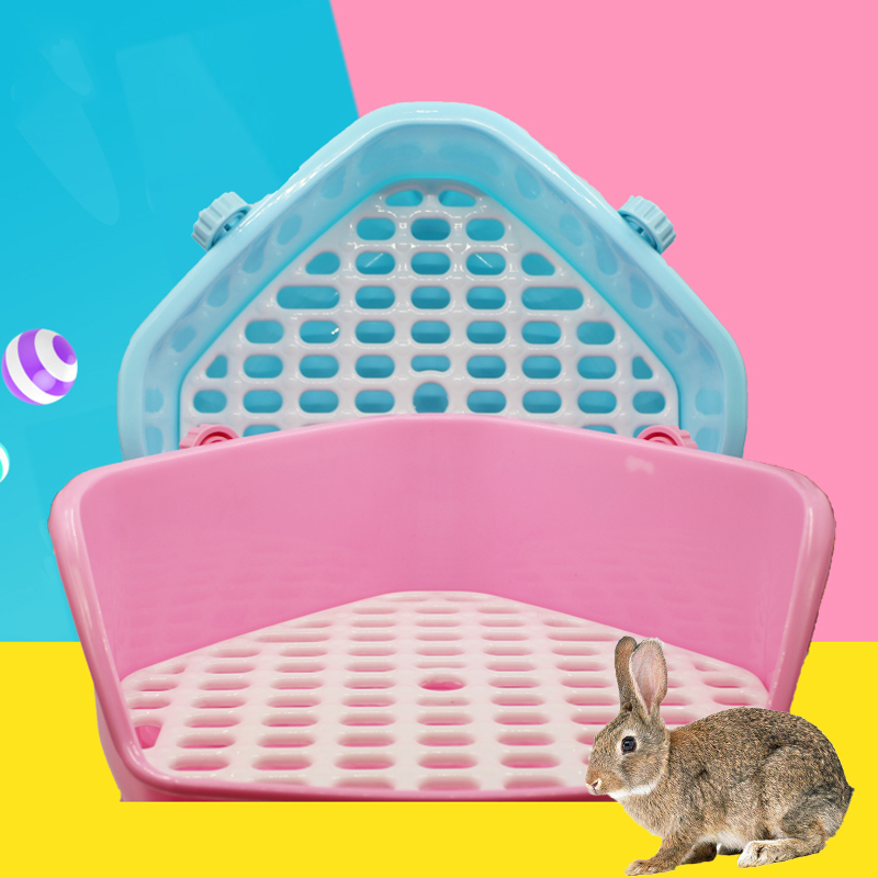 Rabbit Toilet Plastic Hamster Guinea Pig Cage Indoor Clean Corner  Potty Small Pet Orner Training Tray For Pets Supplies