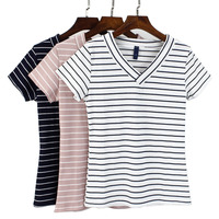 Трикотажная полосатая футболка