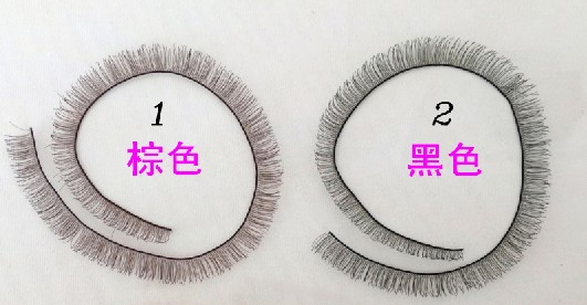 Dolls Accessories 5pcs/lot 8mm width *20cm length eyelashes for 1/3 1/4 BJD doll and baby born doll doll eyelashes eye line strips for 1 3 1 4 1 6 bjd dolls or reborn doll accessory doll big pretty eye make up accessories