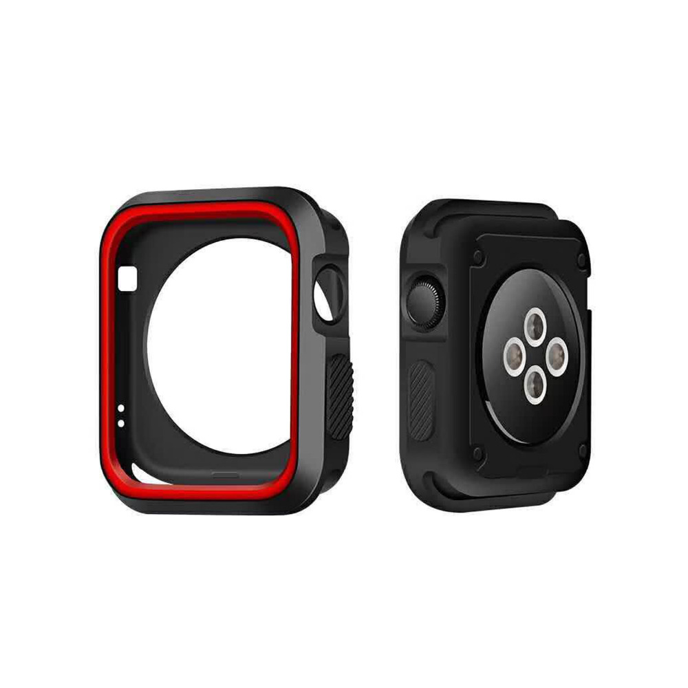 CRESTED silicone case for apple watch 42mm 38mm full protector case rubber case for iwatch 2/1 nike watch band