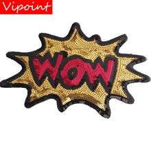 embroidery sequins letters patches for jackets,letters badges jeans,appliques A131