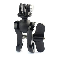 Aluminum CNC Diving Lights Ball Butterfly Clip Arm Clamp Mount + ABS Base Adapter For Gopro Hero 5 4 3plus 3 Camera F15308