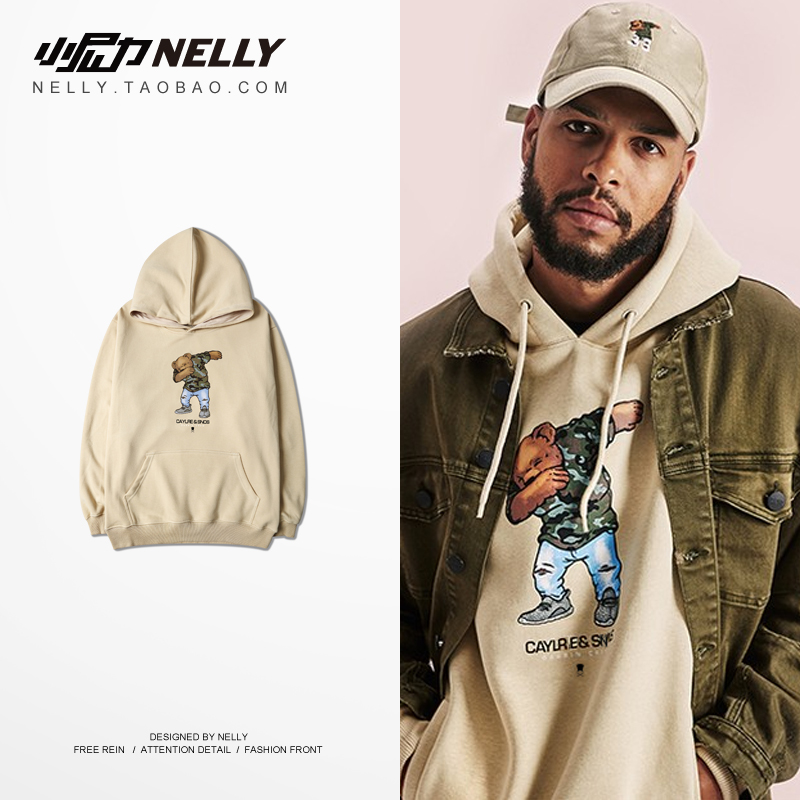 NELLY 2019 Autumn Winter Europe and America Style Hoodie Wild Harajuku Retro Youth Student Skateboard Hip Hop Sweatshirt(China)
