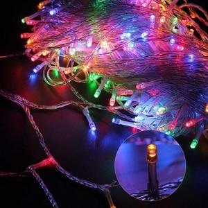 Image 2 - Lumières de vacances 10M 20M 30M 50M 100M Led chaîne fée lumière 8 Modes lumières de noël pour guirlandes de fête de mariage lumières décoratives
