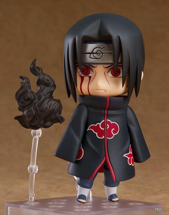 10cm Naruto Nendoroid Shippuden Uchiha Itachi 820# Anime Action Figure PVC toys Collection figures for friends gifts 30