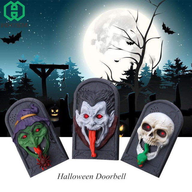 WHISM Squelette Halloween Doorbell Sound Plastic Witch V&ire Skull Tongue Out Funny Joke Toy for Home & WHISM Squelette Halloween Doorbell Sound Plastic Witch Vampire ... pezcame.com
