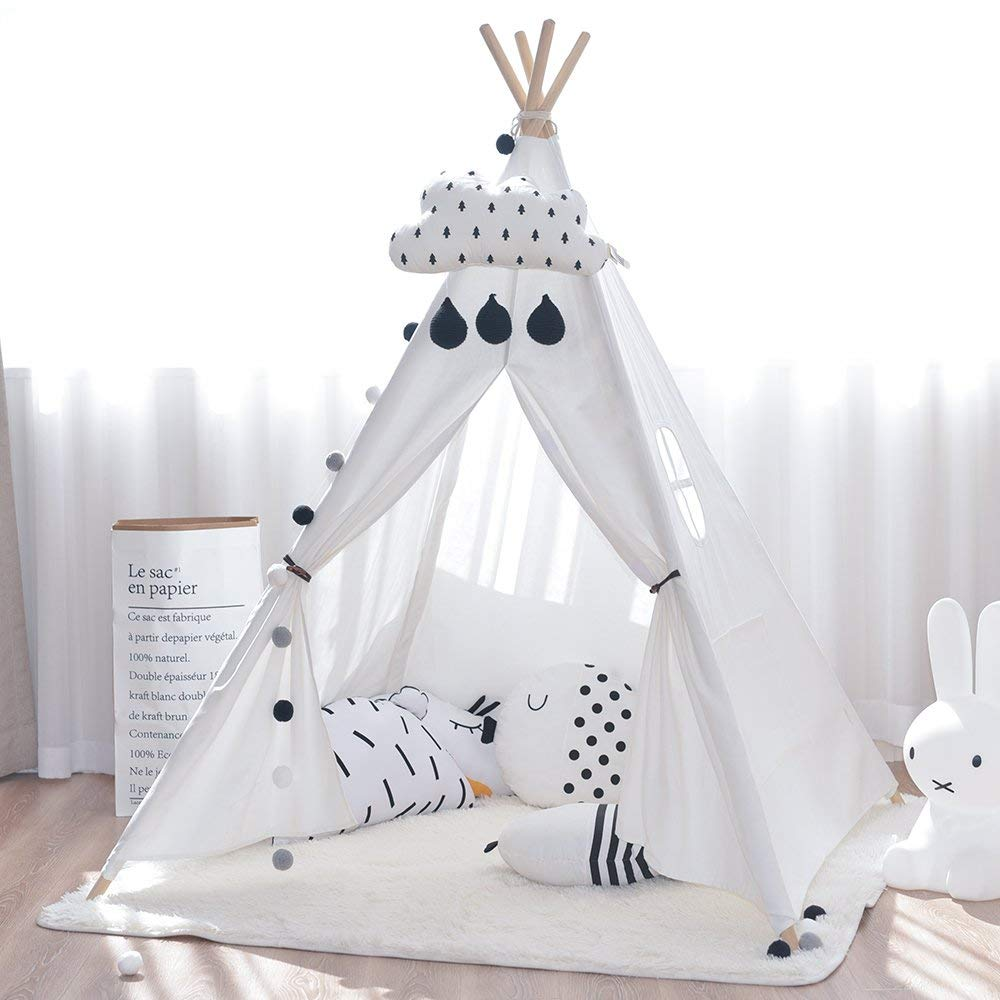 White Teepee Tent Childrens Kids Toddler Wigwam Tipi Tent tipi tent for kids childrens tipi wigwam tent page 8