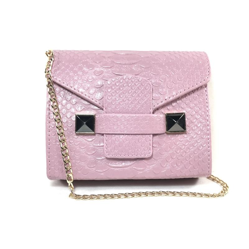 women bag pink Python Small Chain Bag shoulder bags women pu leather handbags mini bag women messenger bags Сумка