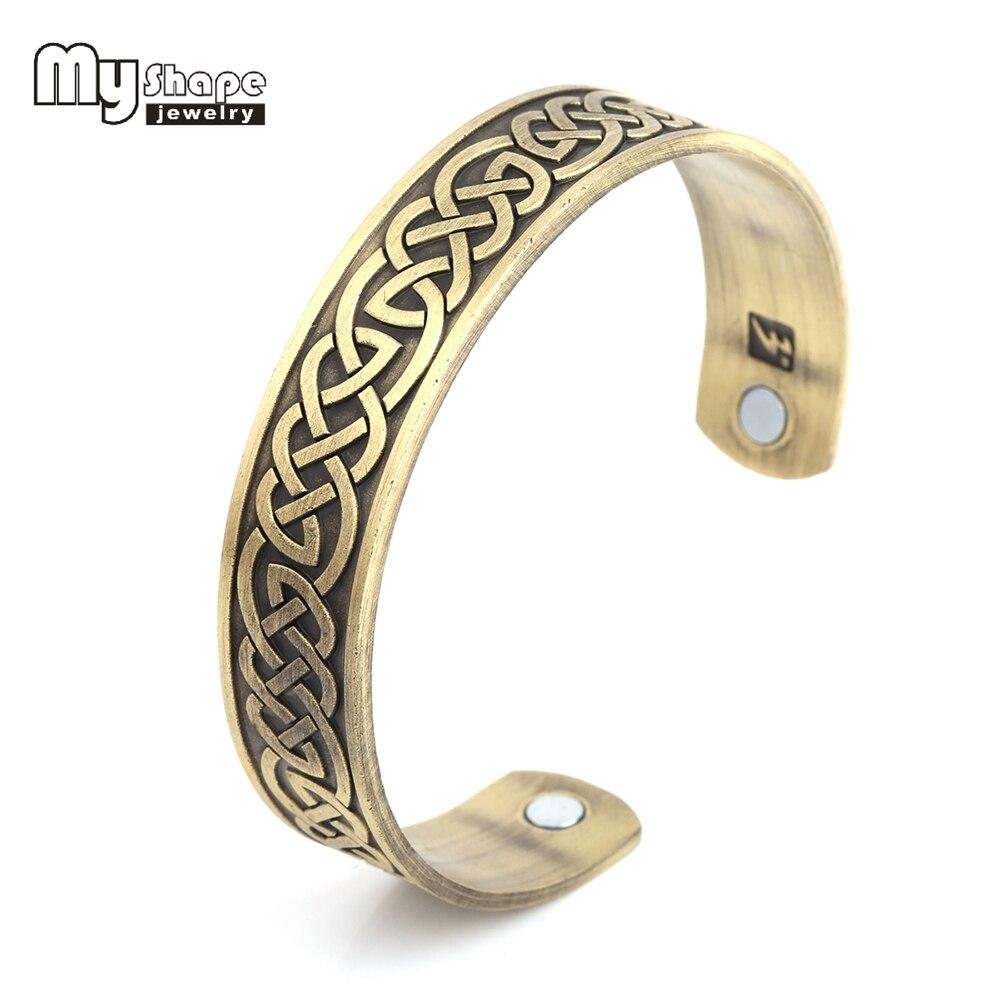 Моя Форма Магнитный браслет wonder woman Мощность Винтаж человек манжета Phoneix тотем узор Мощность терапии Вес потери браслет