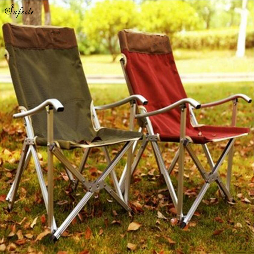 Outdoor ultra-light aluminum alloy folding chair backrest fishing chair portable afternoon lounge chair leisure chai high quality sun lounge aluminum alloy fishing chair folding outdoor chair strong bearing portable leisure chair free shipping