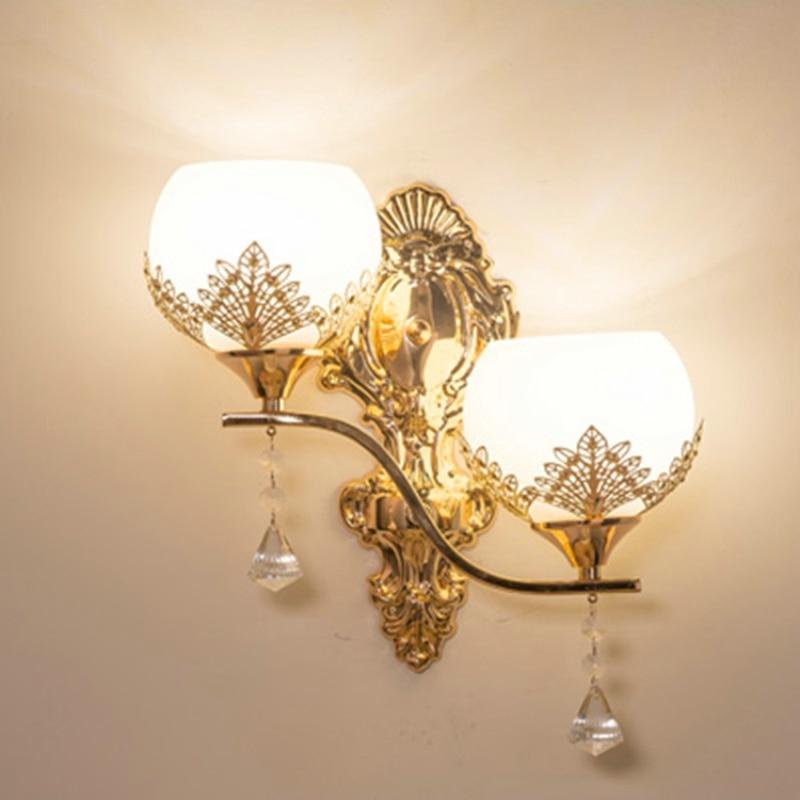 ouro luz da parede quarto lâmpadas leitura