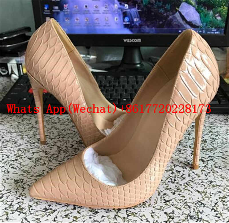promo code c7a1c 13be9 So Kate Women Pumps Python Leather Sole Stiletto High Heels Shoes Woman  Sexy Leopard Dress Pigalle Party Wedding Shoes Ladies