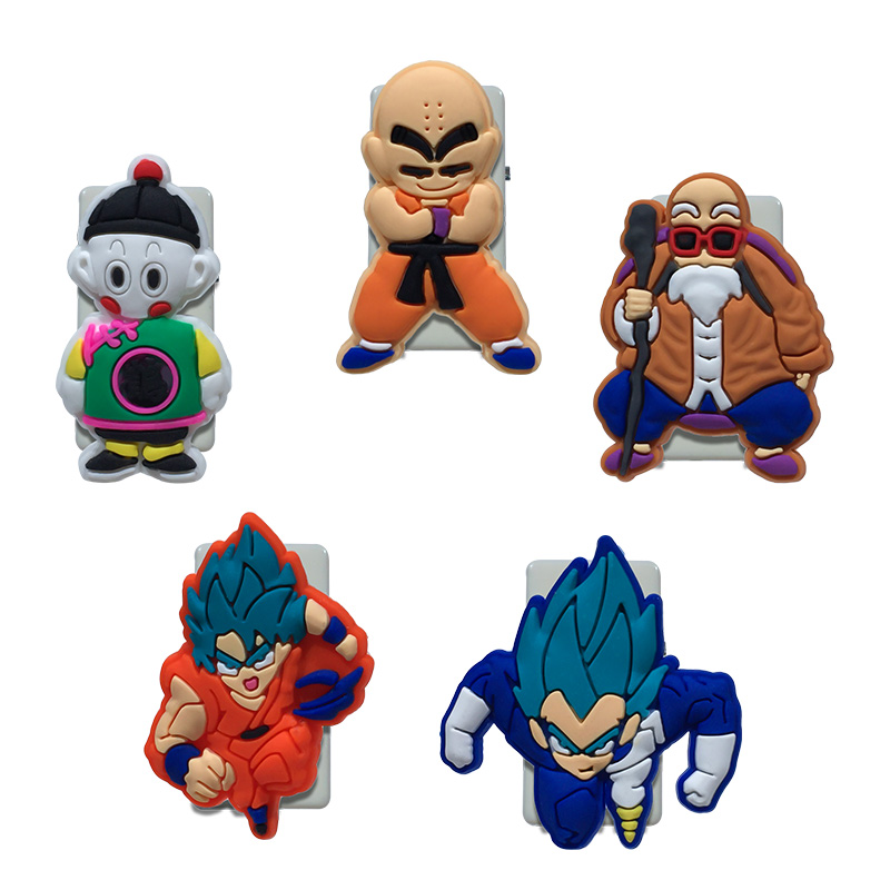 5PCS Pvc Cartoon Paper Clips DRAGON BALL Bookends Office & School Accessories Conductive To Collect Bind Classify