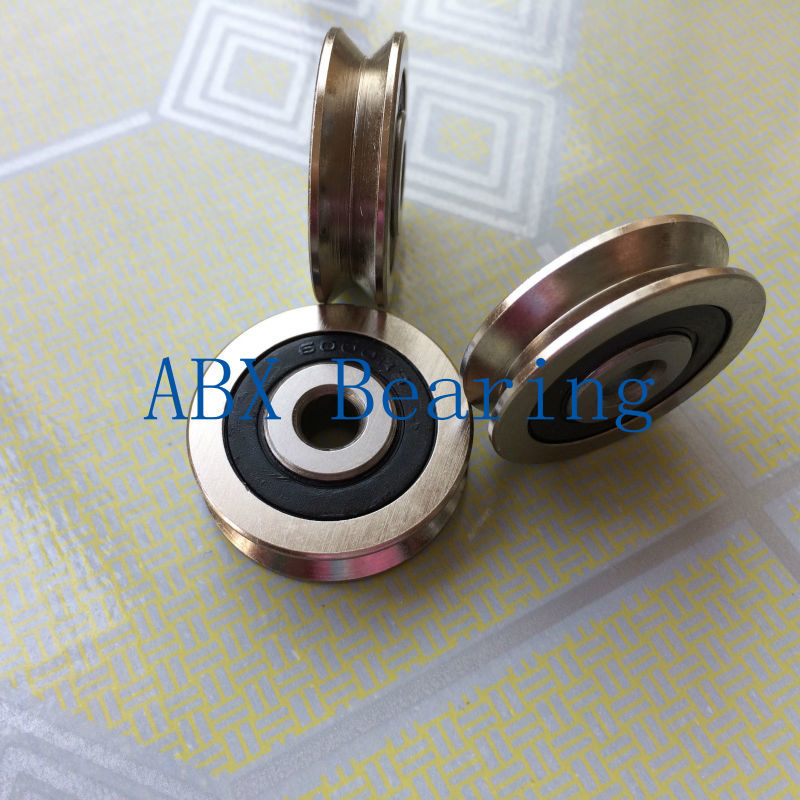 TV0630 TV0630VV V-Groove pulley ball bearings 6*30*8 mm Track guide roller bearing 1 piece bu3328 6 6 33 27 5 29 5 mm z25 guide rail u groove plastic roller embedded dual bearing