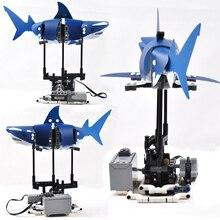Модель рыбных животных, совместимая с Legoing Technic, электрический мотор, функция питания, механическое снаряжение, Moc строительные блоки, развивающие игрушки