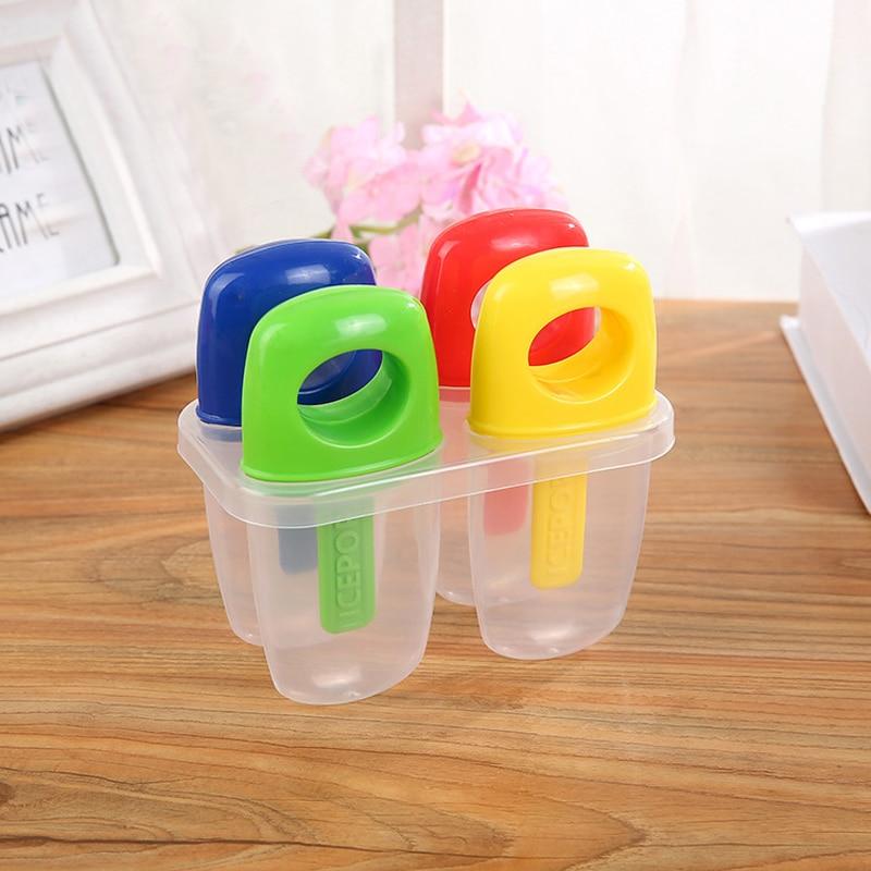 Moule à sucettes colorées glaces | 4 tasses créatives glaces Pop sucettes glacées moule à glace AH007 1 pièce