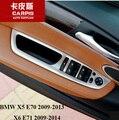 Chrome Car Door Window Switch Panel Cover Trim Car Glass Lift Switch Button Sequins For BMW X5 E70 2009-2013 X6 E71 2009-2014