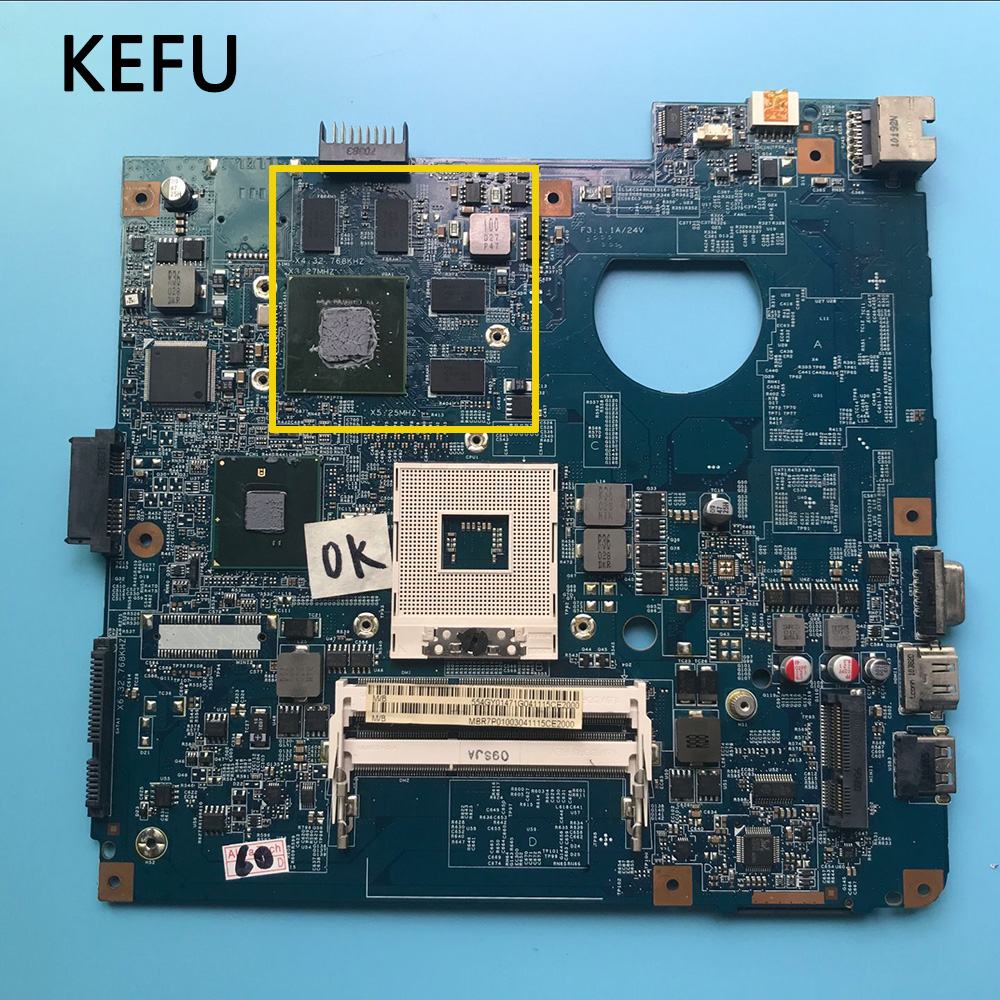 KEFU Laptop Motherboard For ACER ASPIRE 4741 4741G  48.4GY02.031 Hm55 DDR3 Tested Working
