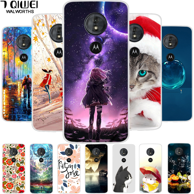 For Moto G6 Plus Case Silicone Soft TPU Printed Back Cover For Motorola Moto G6 Play Phone Case G 6 Play Coque for Moto G6 Cases-in Fitted Cases from Cellphones & Telecommunications on AliExpress