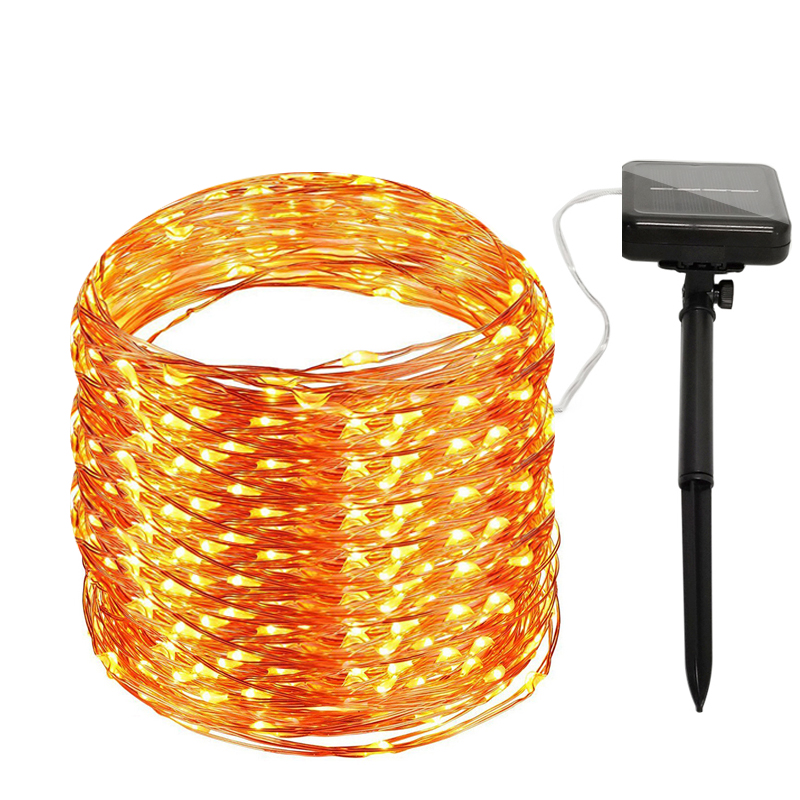 Solar Powered String Lights 10M 20M 32M Copper Wire Outdoor Fairy Light For Christmas Garden Home Holiday Decorations