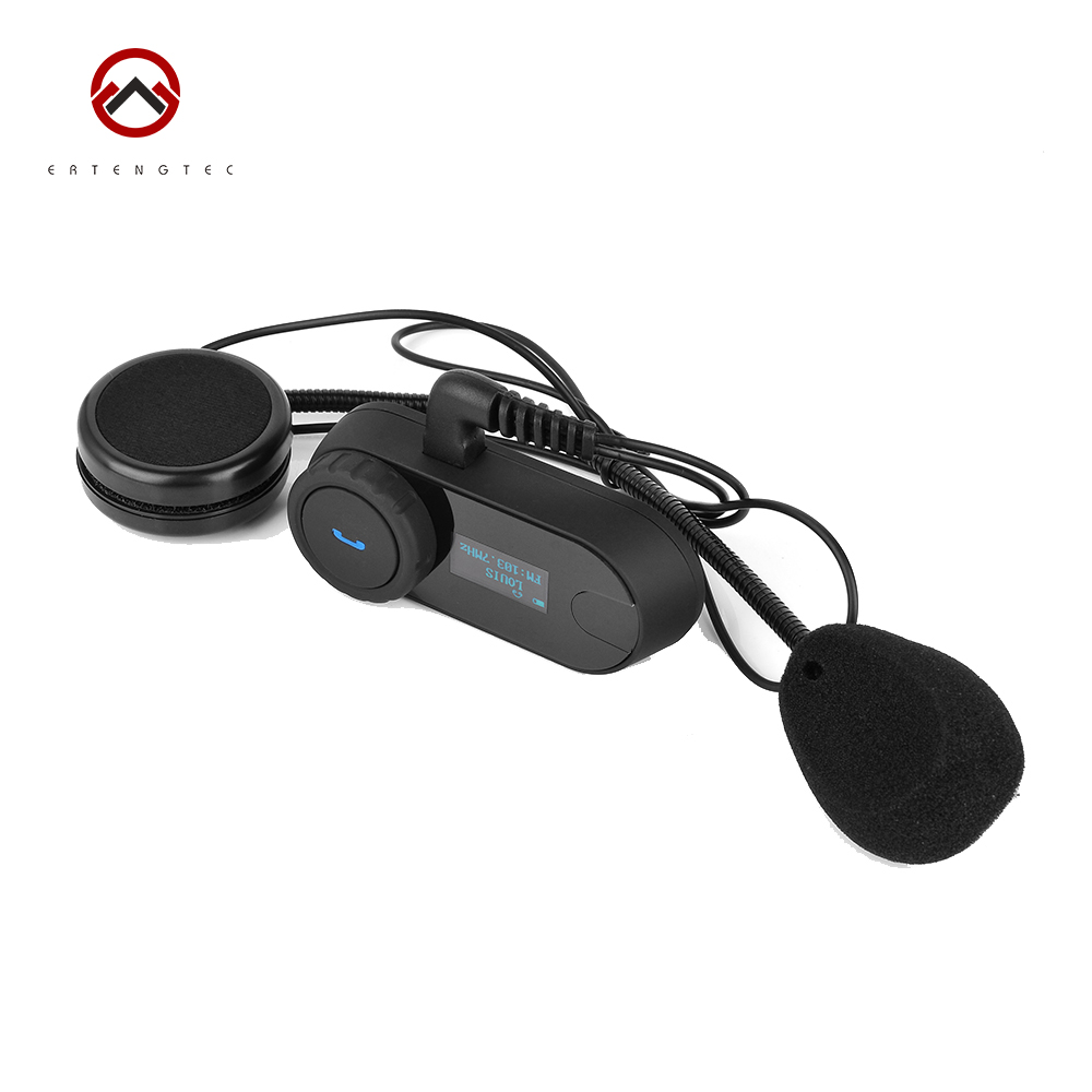 Bluetooth Motorcycle Helmet Intercom TCOM-SC Waterproof Headset 800m Intercom Range LCD screen FM Radio 350mAh Battery