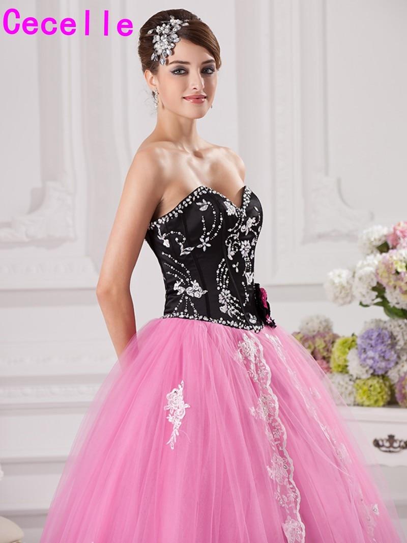 Increíble Vestido De Fiesta Negro Princesa Festooning - Colección de ...
